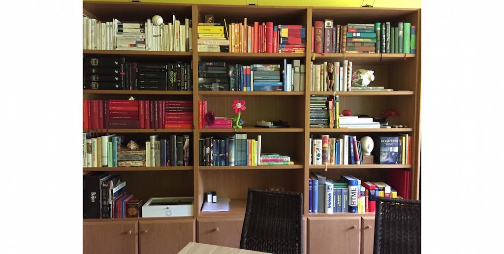 Bücherregal blanko